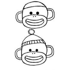 sock monkey drawing google search art pinterest monkey drawing rh pinterest com sock monkey face clip art sock monkey clip art black and white