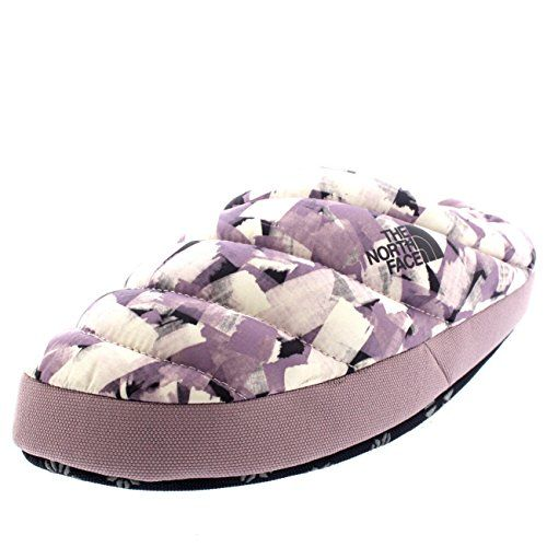e1a6d855922 Womens The North Face Nse Tent Mule III Thermal Winter Slippers Mules -  Lilac White - 8-9.5     Be sure to check out this awesome product.