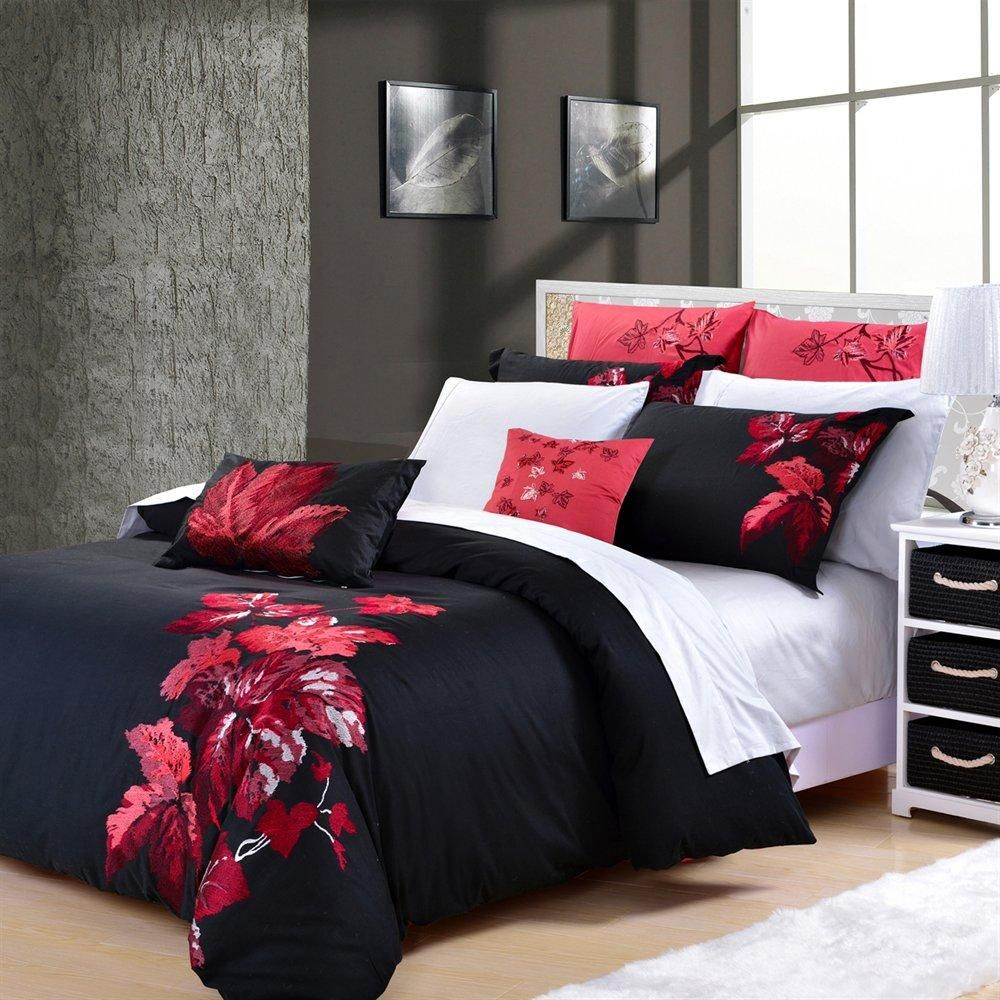This Bed Set Is Elegant Yet Contemporary Rich Deep Shades Of