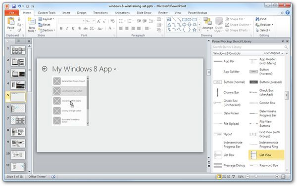 free windows 8 wireframe templates for powerpoint wireframe