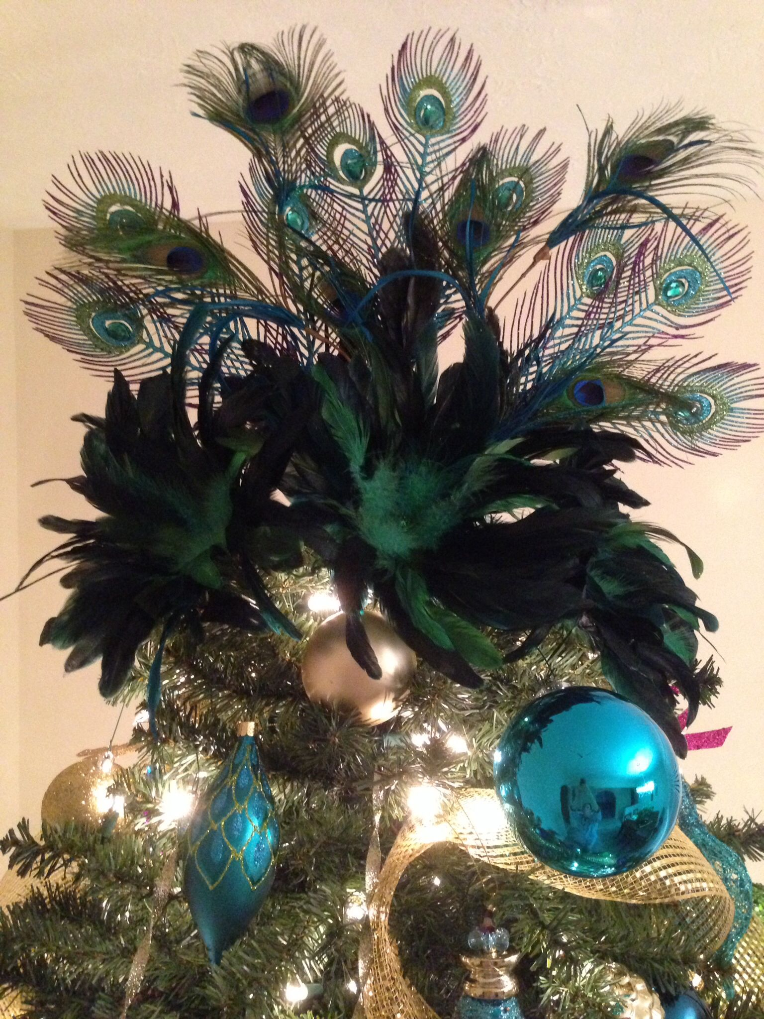 My Peacock Christmas Tree Topper Peacock Christmas Tree Peacock