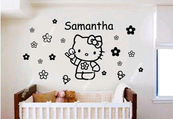 modern decor wall sticker art deco hello kitty 3yitingsticker