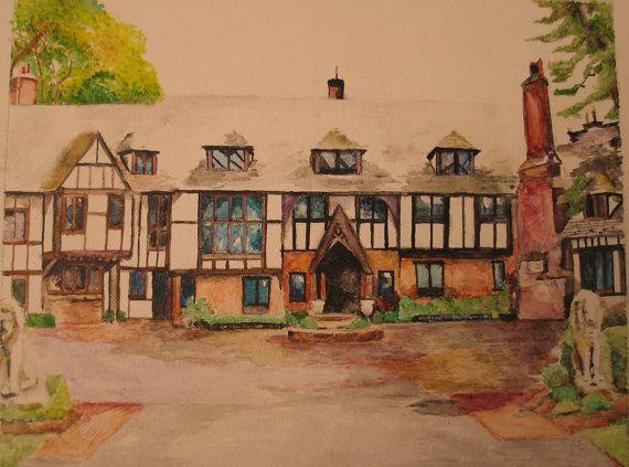 Custom House Painting watercolor illustration 8 x by ArtofHarmony
