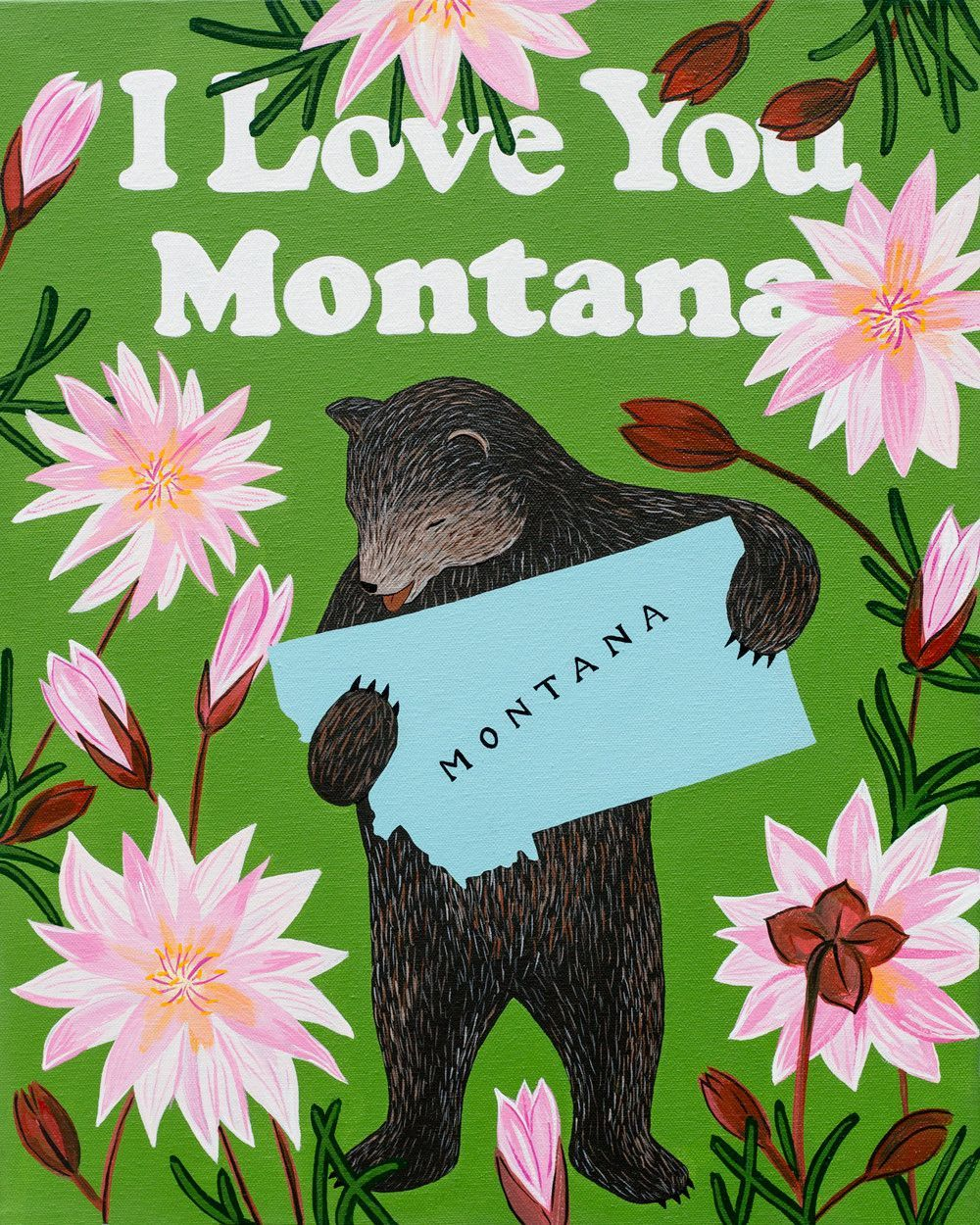 Our I Love You Montana Print celebrates the Treasure State with its ...