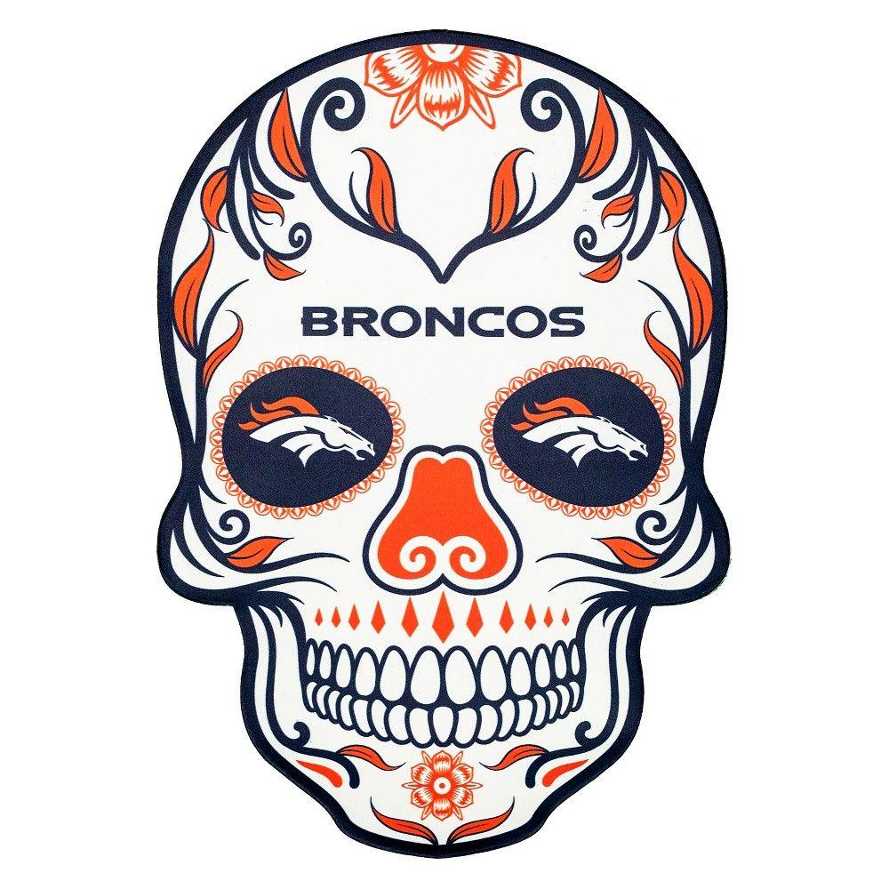 NFL Denver Broncos Large Outdoor Skull Decal Nfl chicago