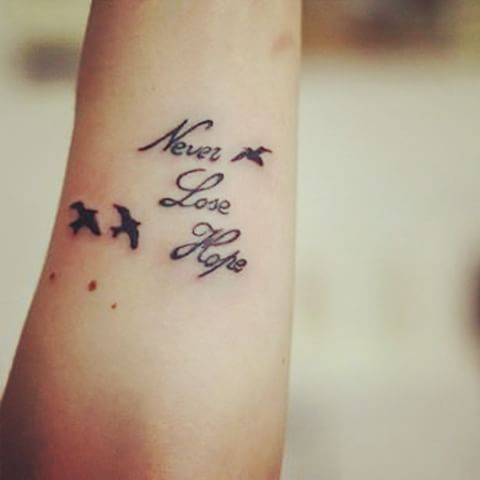 Znalezione Obrazy Dla Zapytania Never Lose Hope Tattoo