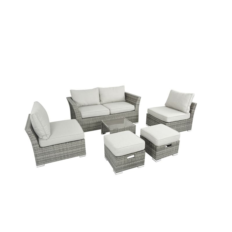 Lindfield 6 Seater Sofa Garden Furniture Set Garden 400 x 300