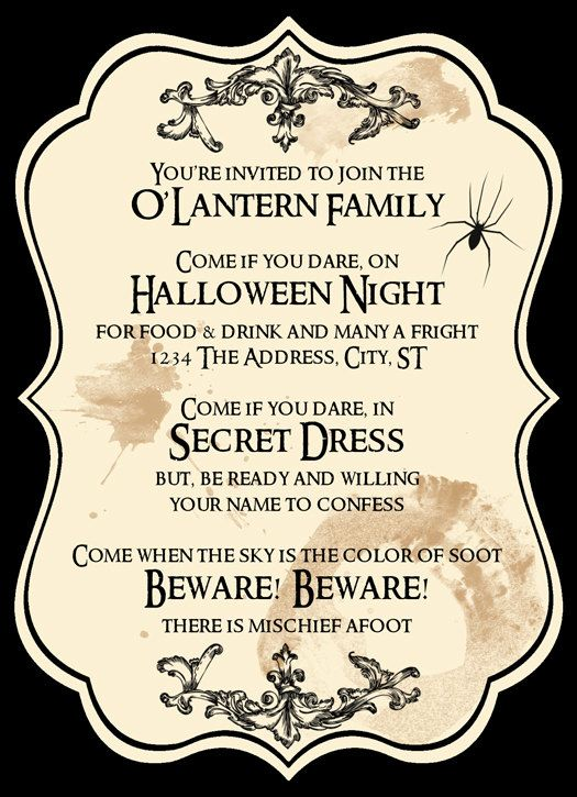 halloween invitations Halloween Pinterest See more ideas - Formal Invitation Letters