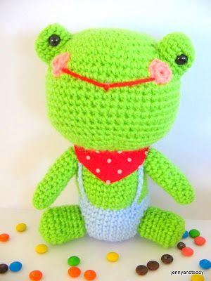 Mr Frog Free Crochet Pattern Herr Frosch Kostenlose Häkelanleitung