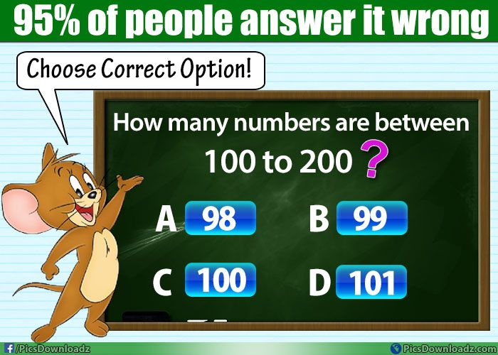 How many numbers are between 100 to 200? – Math Puzzles