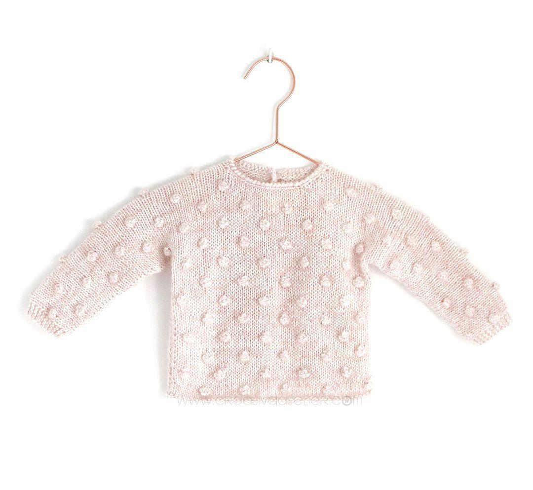 Jersey de Punto POPCORN para Bebé - [ Tutorial y patrón ] | Patchwork