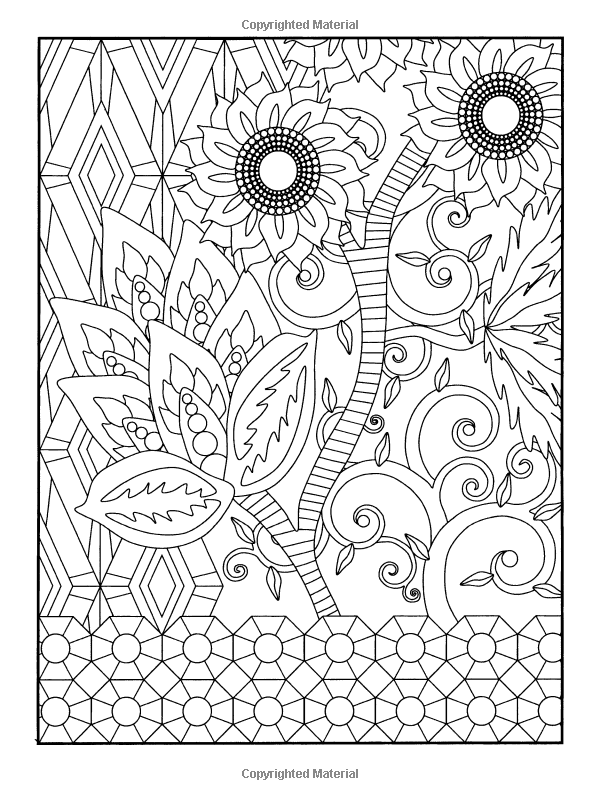 Amazon Garden Party Flower Designs To Color Dover Nature Coloring