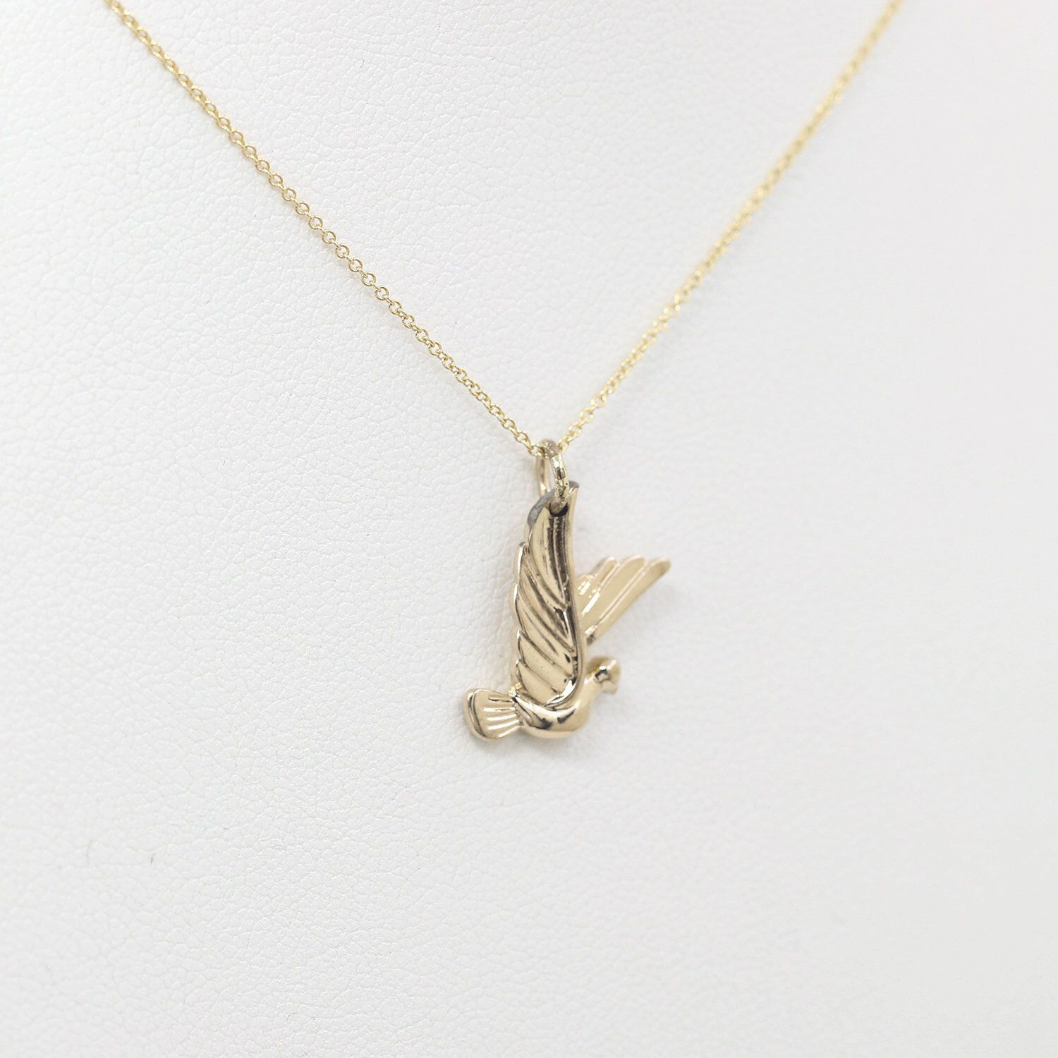 Photo of Solid 14k Bird Necklace. Dainty Gold Necklace. Unique Women's Necklace. 14k Bird Necklace. Simple Gold Necklace. 14k Rose Gold necklace