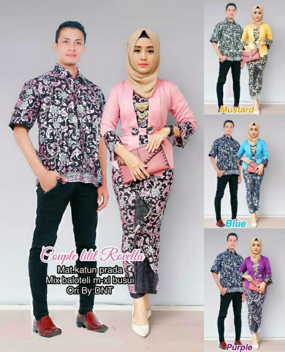 Setelan Model Baju Batik Couple Sarimbit Lilit Rovella  2ebf90d4a8