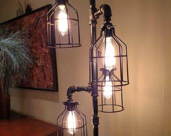 Industrial floor lamp | Etsy