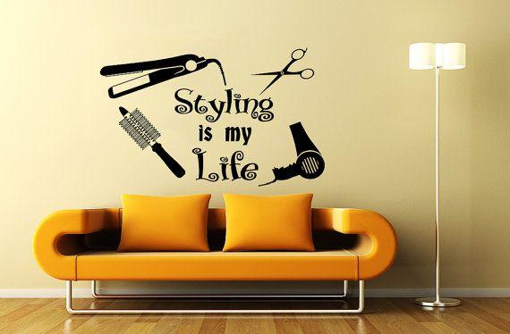 Wall Decal Beauty Salon Hair Spa Fashion Styling Is Por