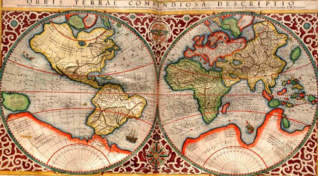 This very decorative world map with antarctica as well as parts of this very decorative world map with antarctica as well as parts of north america gumiabroncs Choice Image