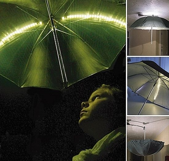 7fe8e2c3b Solar Umbrella | Interesting Umbrellas | Table Lamp, Lights, Design