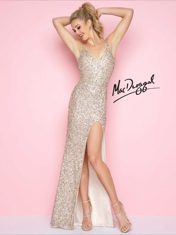 Sequin Gold Prom Gown | Mac Duggal prom dress available at Hope\'s ...