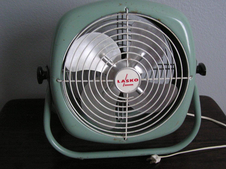 Vintage Floor Fans : Antique vintage lasko electric round industrial floor fan