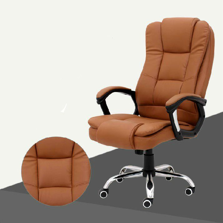 Comfortable Household Leather Office Computer Chair Fashion Simple Boss  Chair Ergonomic Chair Furniture Supplies