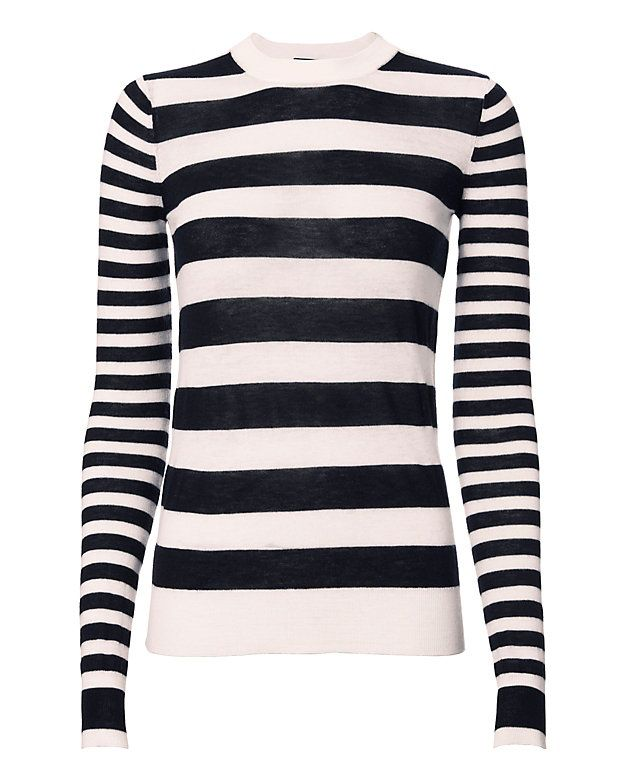 26a8e21ee Joseph Striped Cashmere Sweater  A fine cashmere knit sweater with ...