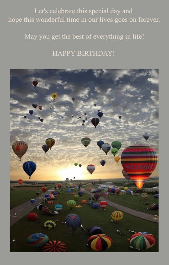 Beautiful Birthday Card With Greeting Words Happy Birthday