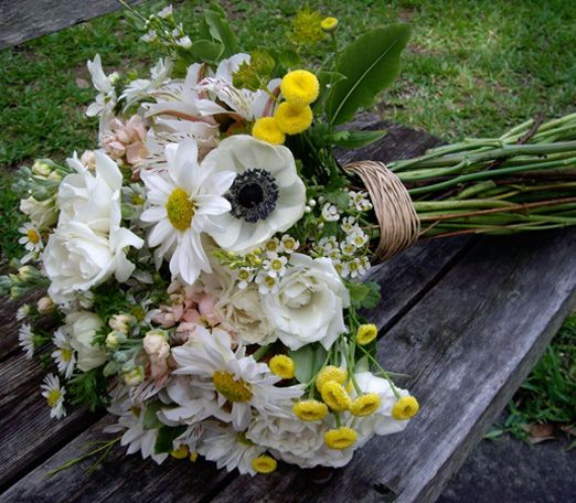 A Stunning Collection Of Wild Flowers This Bouquet Is Comprised Anemones Daisies