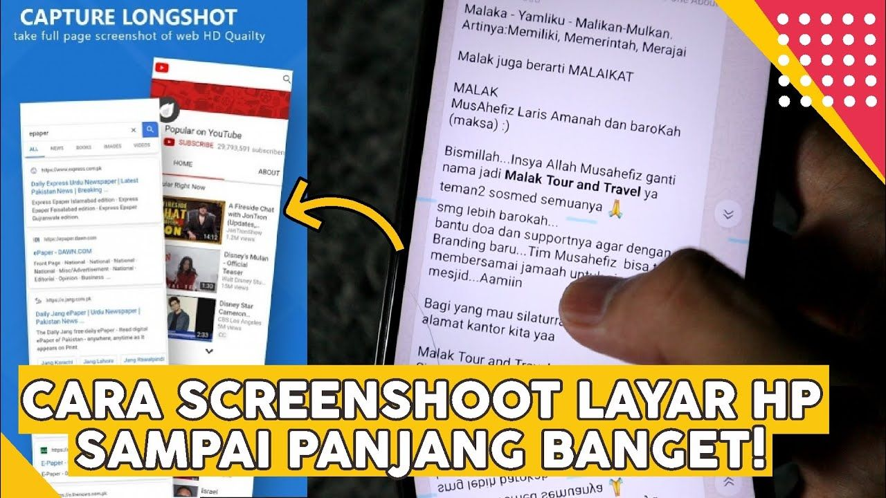 Cara Screenshot Gambar Di Hp Menjadi Panjang Biasa Digunakan Untuk Scr Gambar Blog Tips