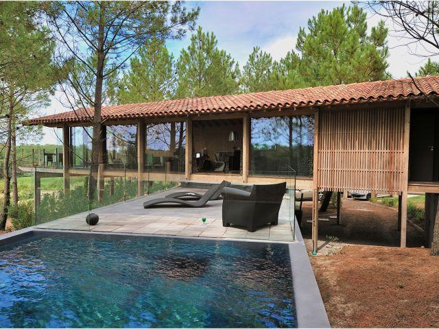 Villa moderne a vendre landes plage golf hossegor for Maison moderne landes