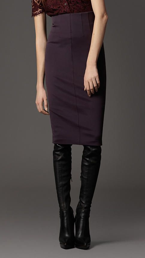4f4d4f33df Burberry - SLIM FIT PENCIL SKIRT | My Style | Skirts, Fashion, Burberry