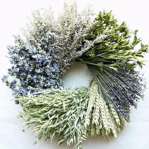 Photo of Little Cutie Wreath Dried wreath of flowers Blue wreath | Dried wreath