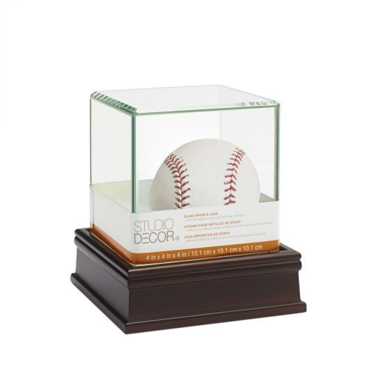 Deluxe Baseball Display Case By Studio Decor Michaels Display Case Shadow Box Display Case Baseball Display