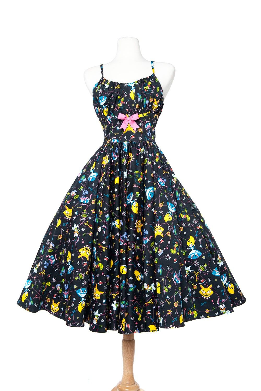 Ella dress in wonderland print plus size pinup pinterest
