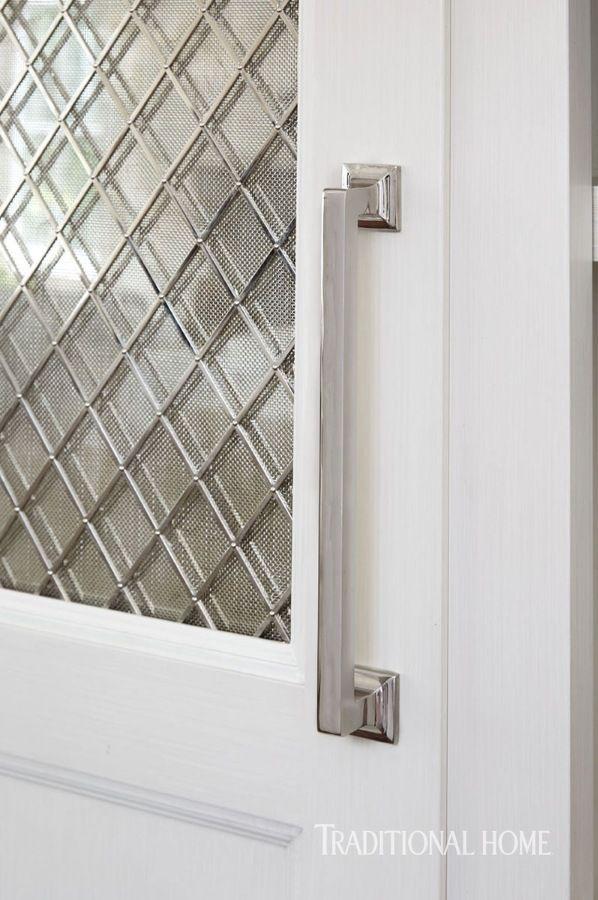 Gorgeous White Kitchen | Mercury glass, Pantry and Hardware