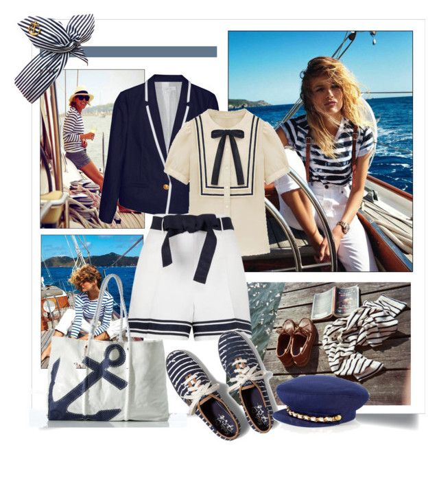 """""""Sailor Girl"""" by danewhite on Polyvore featuring Karen Walker, Keds and Juicy Couture"""