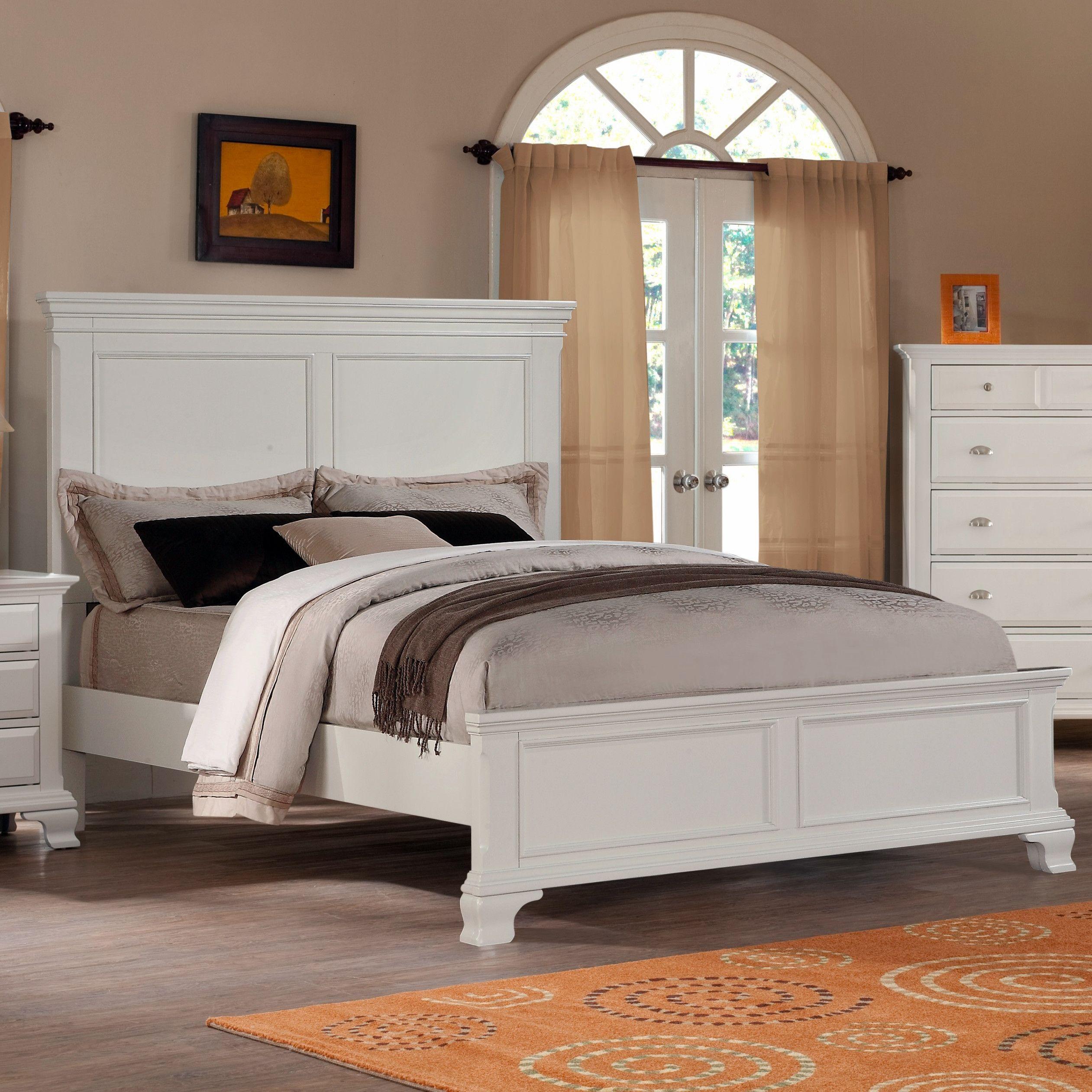 Master bedroom furniture sets  Roundhill Furniture Laveno Panel Bed  Bedroom  Pinterest  Beds