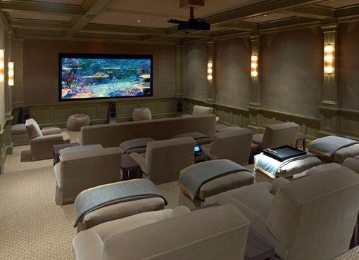 C mo crear una sala de cine en casa cinema cinema room - Sala de cine en casa ...