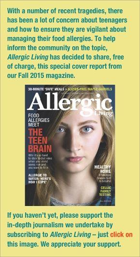When #foodallergy meets the #teenage brain @allergicliving