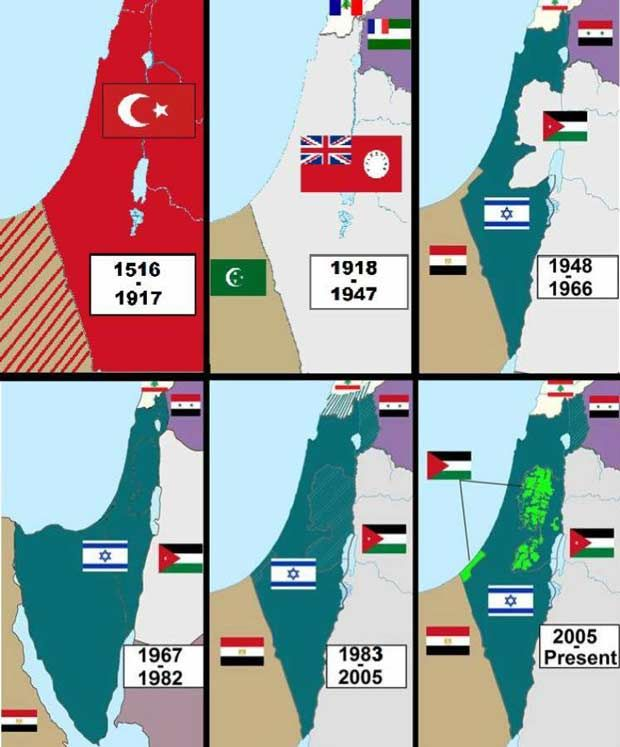 ISRAEL & PALESTINE: THE MAPS TELL THE TRUE STORY