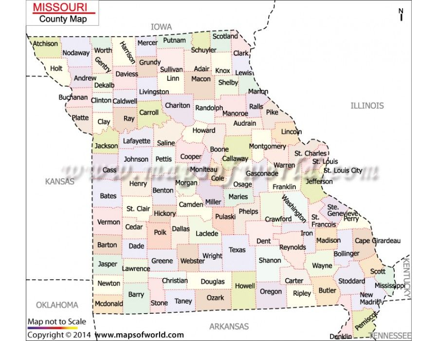 Buy Missouri County Map Online County Map Education Supplies Missouri