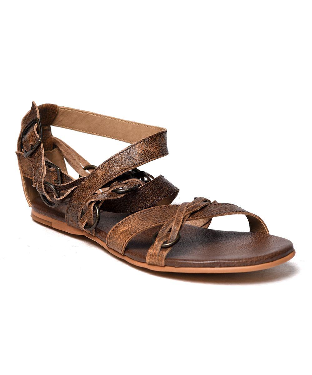 945e7ddfc7b0 ROAN Brown Gretch Leather Sandal - Women