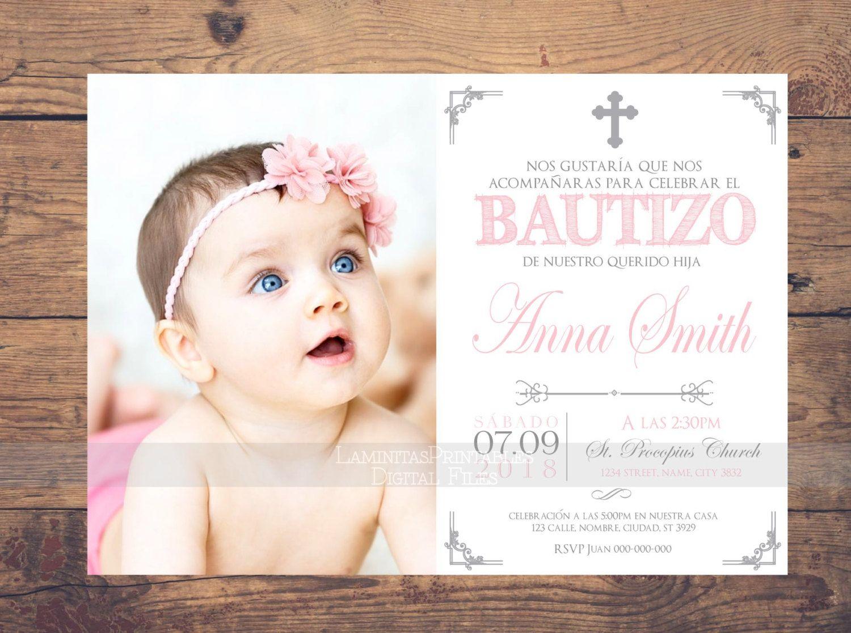 bautizo invitations  invitacion bautizo en espa u00f1ol