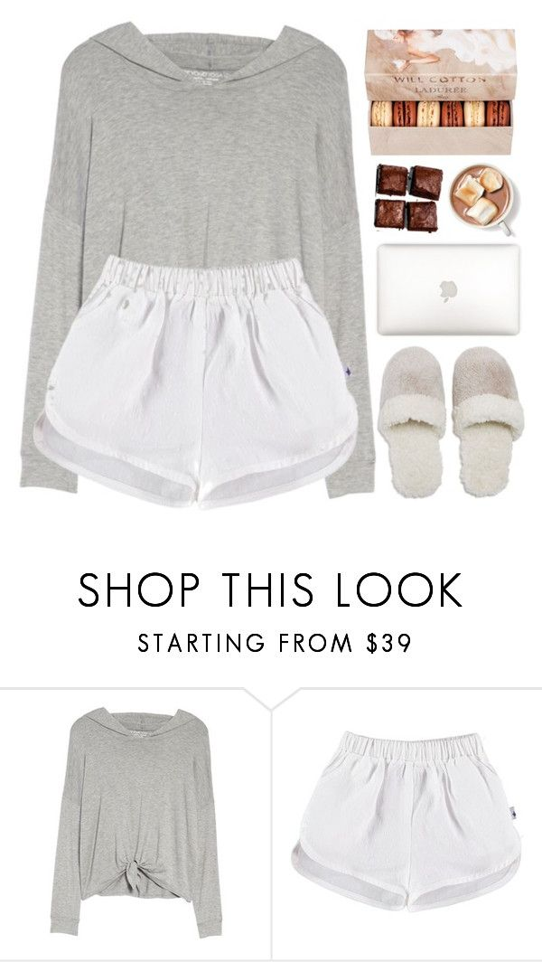 """Untitled #1407"" by chantellehofland ❤ liked on Polyvore featuring Beyond Yoga, Natori and Ladurée"
