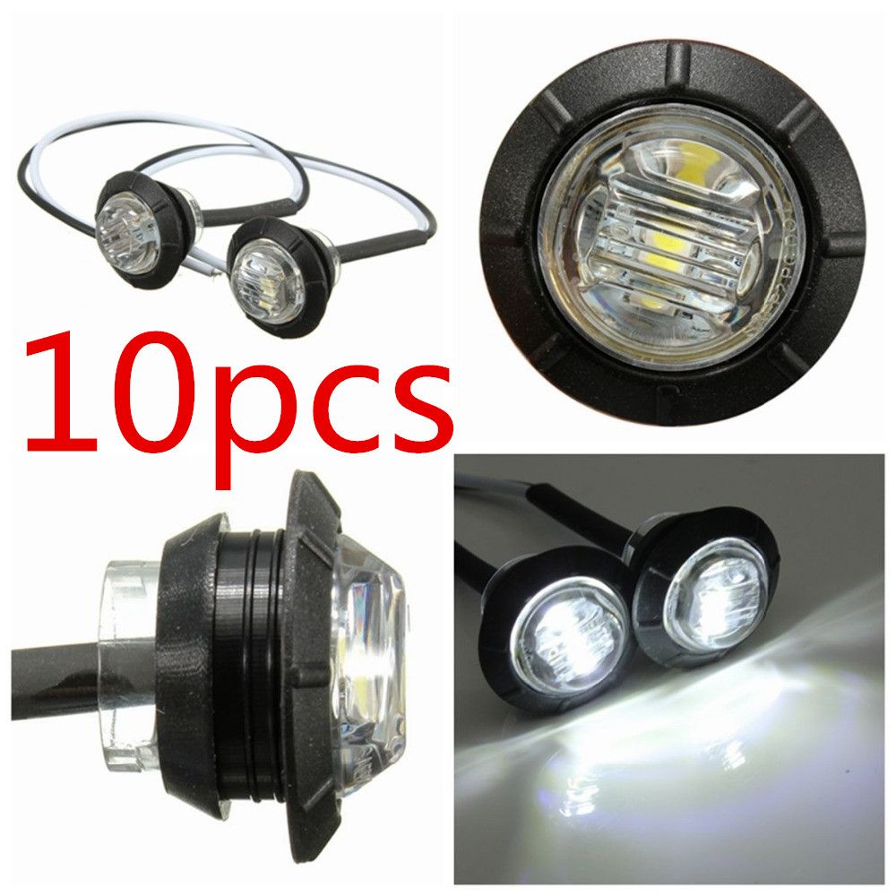 10x 12 24v Led Clearance Side Marker Light Indicator Lamp Truck Trailer Caravan Motorcycle Lights Car Lights Truck Lights