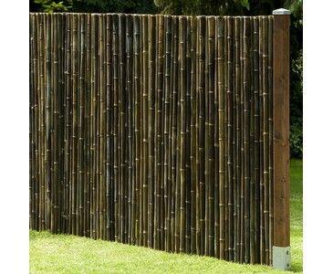 Schwarze Bambusmatte günstig beim Zaun Profi kaufen bei