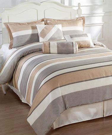 Coffee Gray Bachelor Comforter Set Zulily Zulilyfinds Comforter Sets Home Decor Bedroom Home Decor