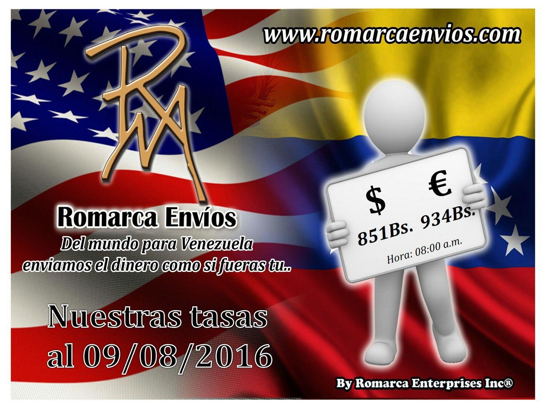 #TasaDeCambio 08:00am #RomarcaEnvios #EnvioDeDinero #VenezolanosEnElExterior