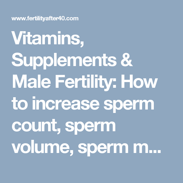 Topic Many sperm count increase fertility herbs remarkable