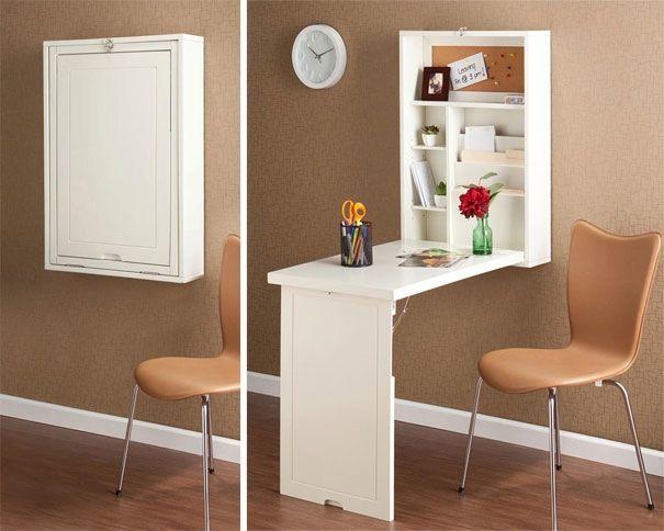 Casa piccola tante geniali idee salvaspazio tavolo - Tavolo richiudibile a muro ...